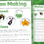 Add and Subtract Volumes – Potion Making Activity