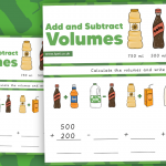 Adding and Subtracting Volumes Activity