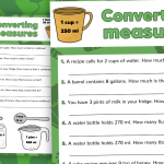 Converting Imperial Measures Activity