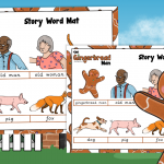 The Gingerbread Man Story Word Mat