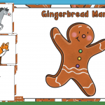 The Gingerbread Man Story Character Posters