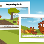 The Little Red Hen Story Sequencing Cards