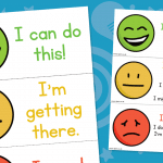 Smiley face Self Assessment Cards