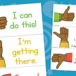 Thumbs Up Self Assessment Cards