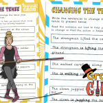 Change the Verb – Past or Present Tense Activity