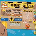 Barry Beaver Construction Area Classroom Display Pack