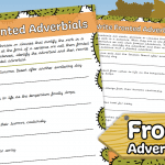 Write Fronted Adverbials