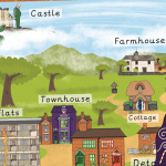 Houses and Homes Giant Traditional Tales Poster and Mat