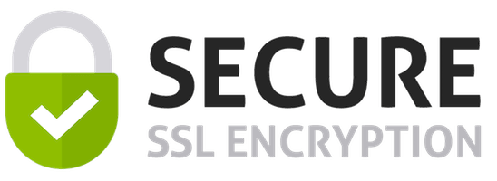 SSL Encryption for peace of mind and security!
